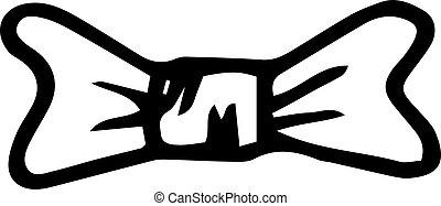 平ら, sketch., isolated., いたずら書き, シンボル。, イラスト, 手, 装飾, バックグラウンド。, ベクトル, 黒, 引かれる, handdrawn, タイ, icon., 印, 白, element., design.
