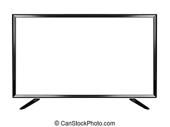 平ら, tv, 隔離された, oled, 背景, 白, 痛みなさい