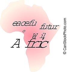 平和である, 未来, ∥ために∥, 野生, アフリカ。, カリグラフィー, インスピレーションを与える, 引用, グラフィック, design.
