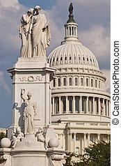 平和記念碑, 中に, washington d.c.