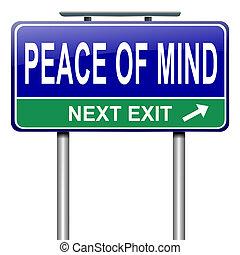 平和, の, mind.