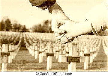 平和, 子供, 歩きなさい, 1, 世界, 手, 戦争