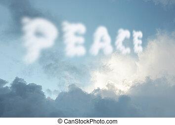平和, 雲