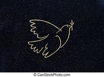 平和, 鳩, 墓