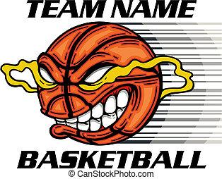 平均, バスケットボール, 漫画, 顔
