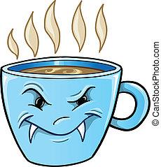 平均, 不快である, ひどく, カップ, ベクトル, コーヒー