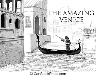 平底小船, 威尼斯, 略述, 運河