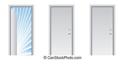 平穏, 平和, ドア