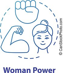 平等, フェミニスト, rgb, 薄くなりなさい, icon., 力, 青, ベクトル, empowerment., 隔離された, 図画, 性, 考え, 概念, movement., 線, feminism., 女, illustration., 色, アウトライン