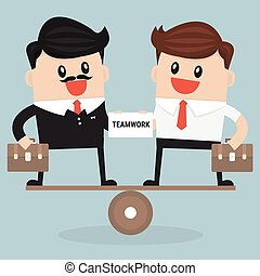 平等, buisness, チームワーク, 交渉