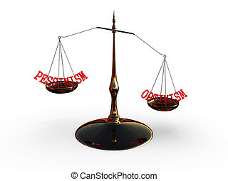 平衡規模, 由于, 詞, 樂觀, 以及, 悲觀主義