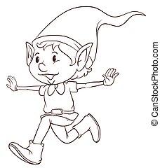 平野, 妖精, 図画