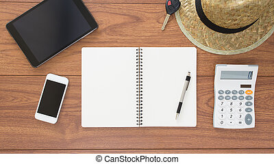 平面図, の, オフィス, テーブル