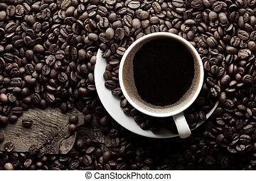 平面図, の, コーヒーカップ