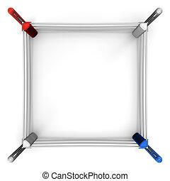 平面図, ボクシングのリング