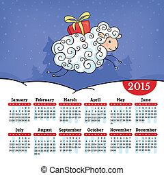 年の ヒツジ, 2015, カレンダー