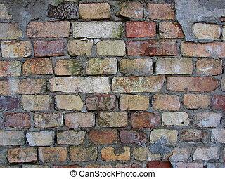 年を取った, brickwall