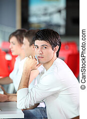 年輕人, 在, 企業 訓練