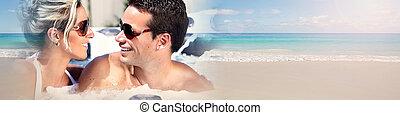 年輕夫婦, 上, 海灘