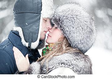 年輕夫婦, 肖像