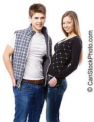 年輕夫婦, 被隔离, 在懷特上, 背景