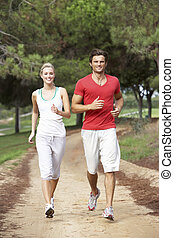 年輕夫婦, 貫穿公園