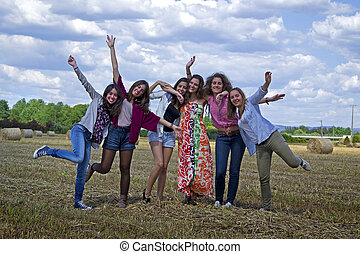 年輕婦女, 享用, life.