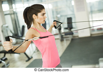 年輕婦女, 在  體操裡