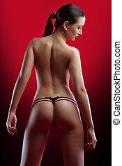 年輕婦女, 由于, 完美, 身體