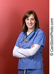 年輕婦女, 醫生
