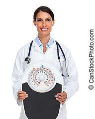 年輕, 醫學的醫生, 婦女, 由于, 規模。