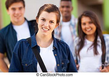 年輕, 高中, 學生