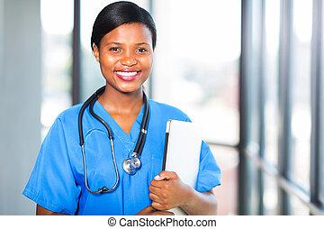 年輕, african, 醫學, 拘禁, 醫生