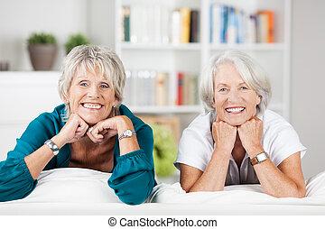 年配の 家, 2, 弛緩, 女性