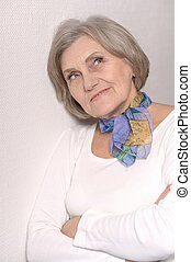 年長の 女性, 肖像画