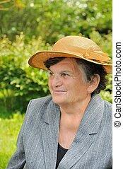 年長の 女性, -, 肖像画