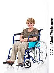 年長の 女性, 車椅子, モデル