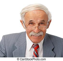 年長者, 人, 幸せ, 肖像画