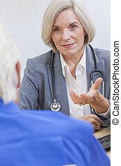 年長者, 女性 醫生, 由于, 男性, 病人