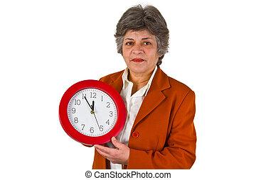 年長者, 美麗的婦女, 藏品, a, 輪, 鐘