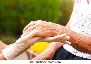 年長, 手