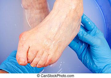年長, 腳, 衛生學