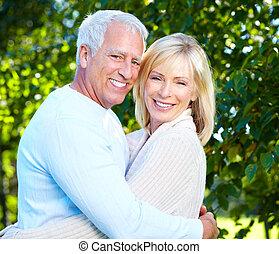 年长者, 夫妇。, 开心