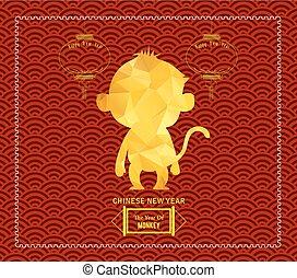 年, の, サル, デザイン, ∥ために∥, 中国語