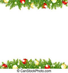 年, 幸せ, ボーダー, 新しい, クリスマス