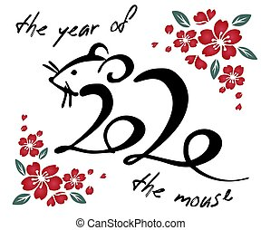 年, 新しい, 中国語, 技能, 金, アジア人, 赤, 月, 要素, 単純である, 背景, 線, 手, 幸せ, ...