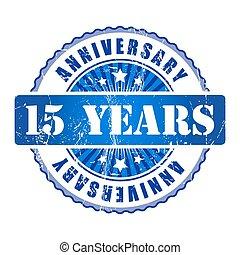 年, 記念日, 15, stamp.