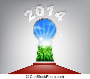 年, 鍵穴, 新しい, 2014, 赤いカーペット