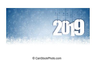 年, 雪, 2019, 背景, 秋, 新しい, クリスマス