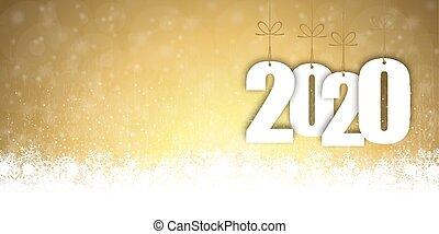 年, 雪, 2020, 背景, 秋, 新しい, クリスマス